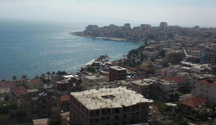 Blick auf Saranda vom Hotel Olimpia