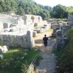Ruinen des ausgrabungsstätte von Butrinti